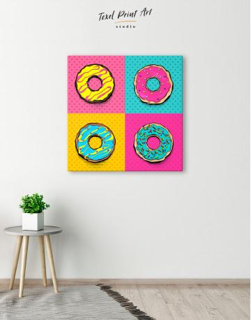 Donut Pop Art Style Canvas Wall Art - image 4
