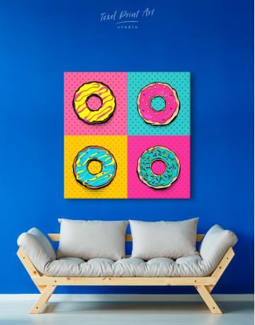 Donut Pop Art Style Canvas Wall Art - image 5