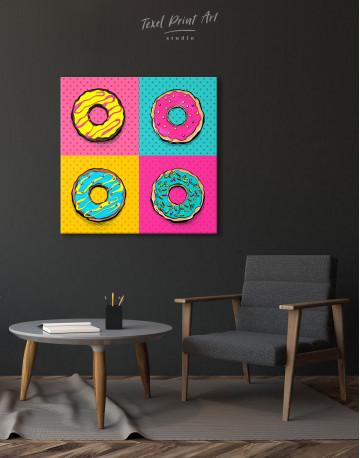 Donut Pop Art Style Canvas Wall Art - image 6