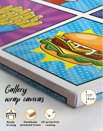 Pop Art Burger Set Canvas Wall Art - image 4