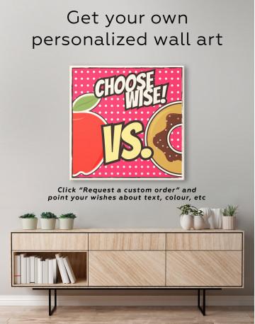 Choose Wise Pop Art Canvas Wall Art - image 3
