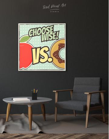 Choose Wise Pop Art Canvas Wall Art - image 5