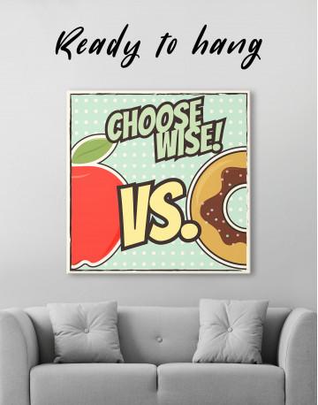 Choose Wise Pop Art Canvas Wall Art
