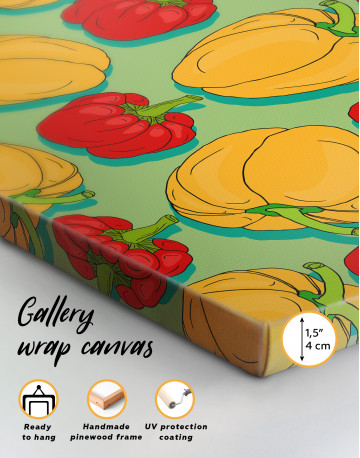 Red and Yellow Bell Peppers Canvas Wall Art - image 4