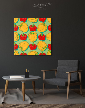 Red and Yellow Bell Peppers Canvas Wall Art - image 5