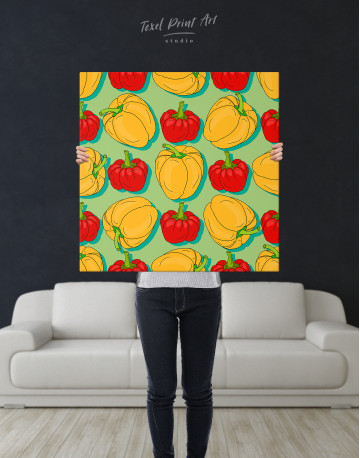 Red and Yellow Bell Peppers Canvas Wall Art - image 6