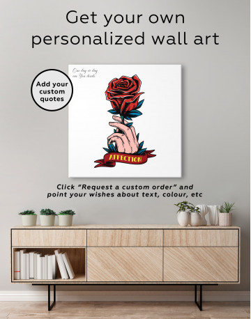 Affection Red Rose Canvas Wall Art - image 4