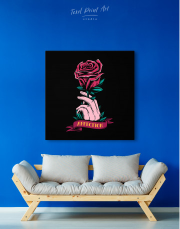 Affection Red Rose Canvas Wall Art - image 3