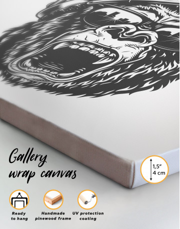 Gorilla with Crown Canvas Wall Art - image 2