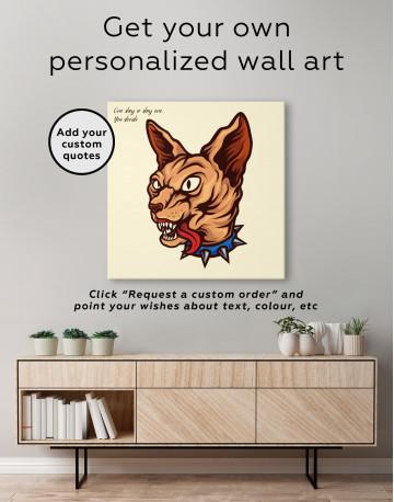 Punk Sphinx Cat Canvas Wall Art - image 3