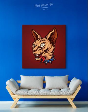 Punk Sphinx Cat Canvas Wall Art - image 2