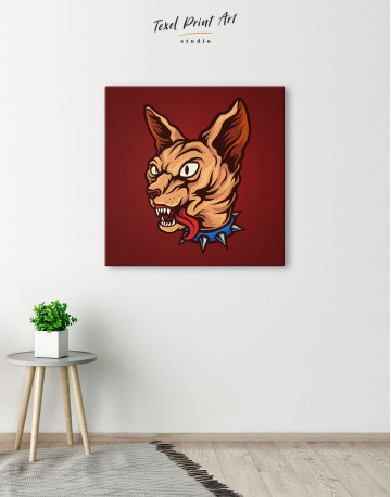 Punk Sphinx Cat Canvas Wall Art - image 1