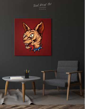Punk Sphinx Cat Canvas Wall Art - image 5