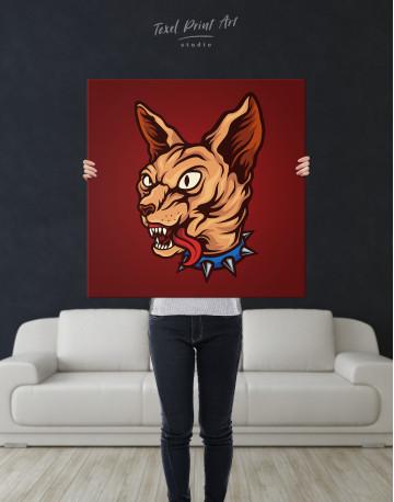 Punk Sphinx Cat Canvas Wall Art - image 6
