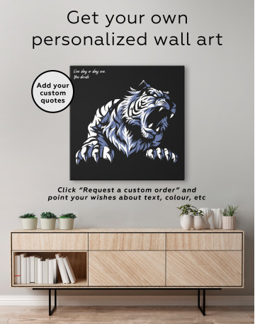 Silhouette Tiger Canvas Wall Art - image 3