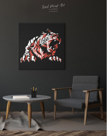 Silhouette Tiger Canvas Wall Art - image 5