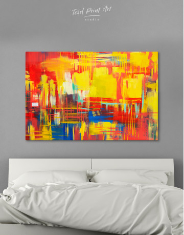 Large Colorful Abstract Canvas Wall Art