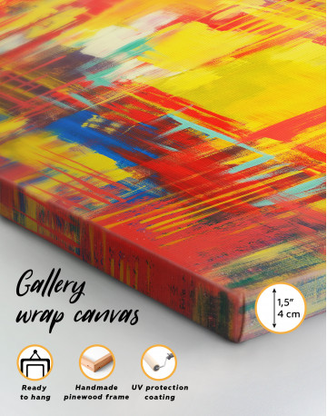 Large Colorful Abstract Canvas Wall Art - image 7