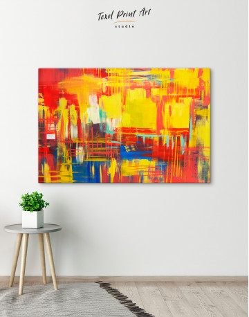 Large Colorful Abstract Canvas Wall Art - image 5