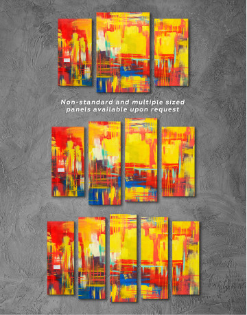 Large Colorful Abstract Canvas Wall Art - image 4