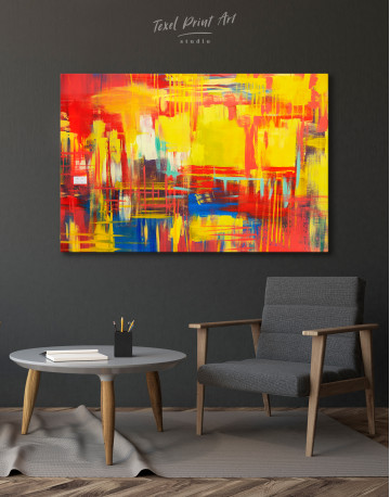 Large Colorful Abstract Canvas Wall Art - image 3