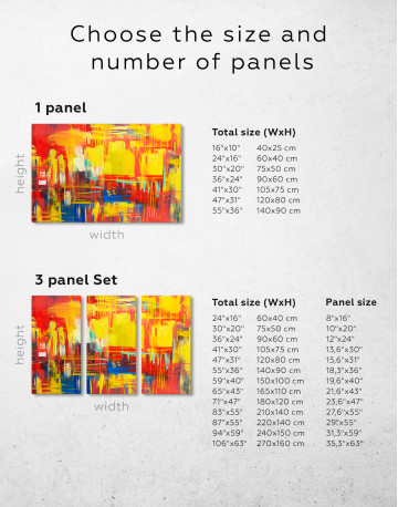 Large Colorful Abstract Canvas Wall Art - image 1