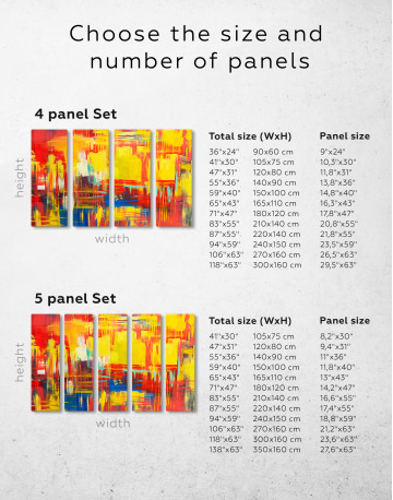 Large Colorful Abstract Canvas Wall Art - image 2
