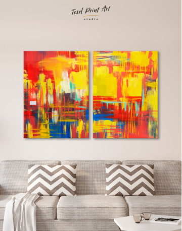 Large Colorful Abstract Canvas Wall Art - image 8