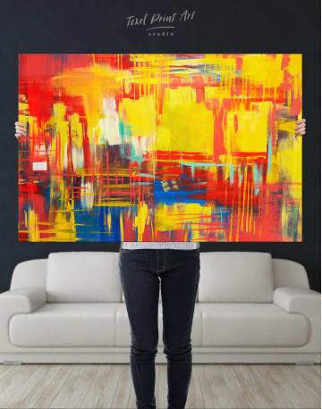 Large Colorful Abstract Canvas Wall Art - image 9
