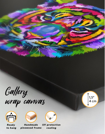 Colorful Tiger Canvas Wall Art - image 4