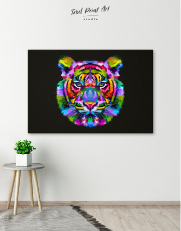 Colorful Tiger Canvas Wall Art - image 6