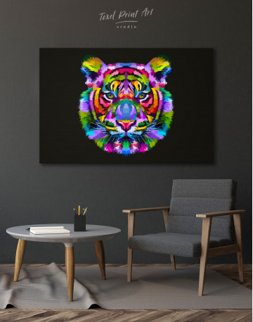 Colorful Tiger Canvas Wall Art - image 8
