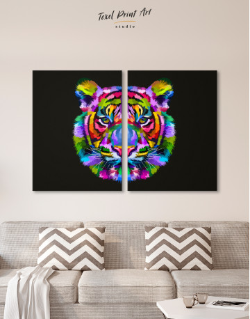 Colorful Tiger Canvas Wall Art - image 1