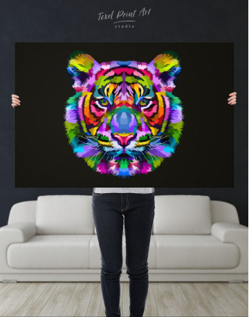 Colorful Tiger Canvas Wall Art - image 2
