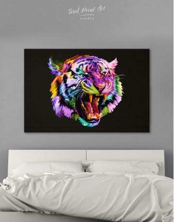 Pop Art Tiger Canvas Wall Art