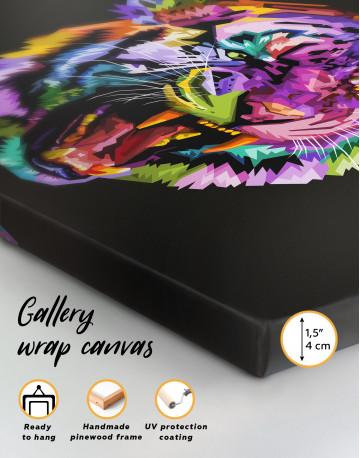Pop Art Tiger Canvas Wall Art - image 3