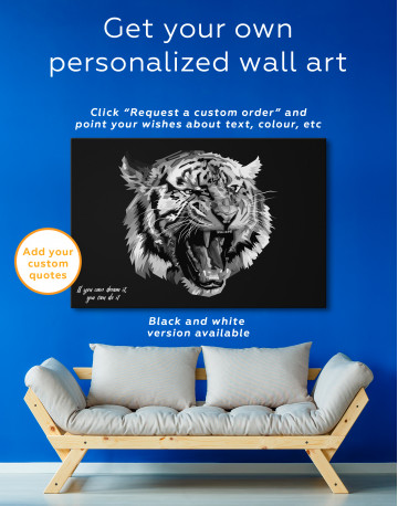 Pop Art Tiger Canvas Wall Art - image 4
