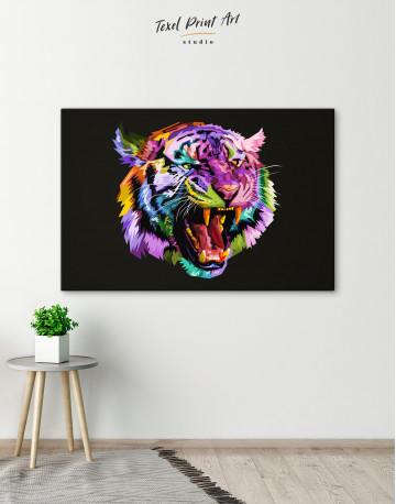 Pop Art Tiger Canvas Wall Art - image 5