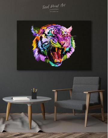 Pop Art Tiger Canvas Wall Art - image 7