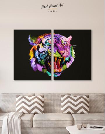 Pop Art Tiger Canvas Wall Art - image 2