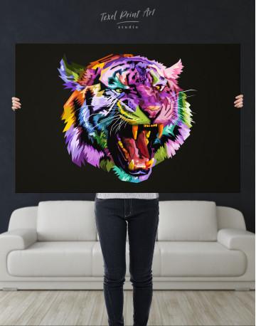 Pop Art Tiger Canvas Wall Art - image 1