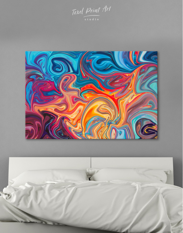 Colorful Marble Canvas Wall Art