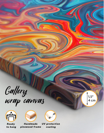 Colorful Marble Canvas Wall Art - image 2