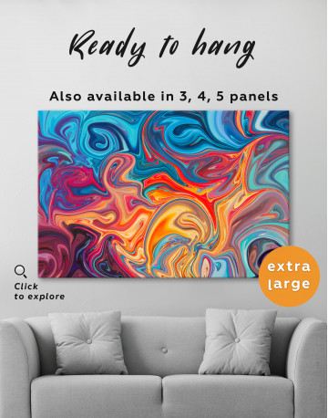 Colorful Marble Canvas Wall Art - image 7
