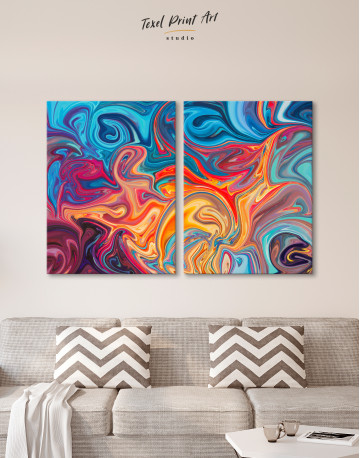 Colorful Marble Canvas Wall Art - image 9