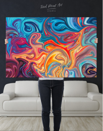 Colorful Marble Canvas Wall Art - image 1