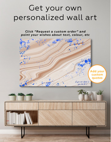 Blue Marble Canvas Wall Art - image 7
