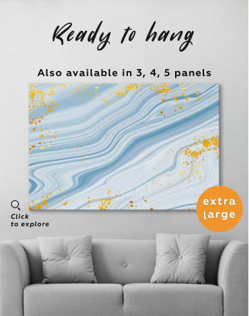 Blue Marble Canvas Wall Art - image 3