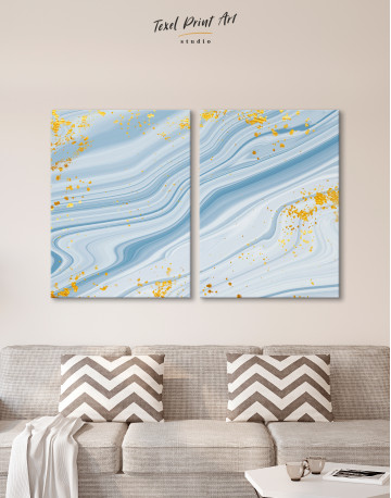 Blue Marble Canvas Wall Art - image 10