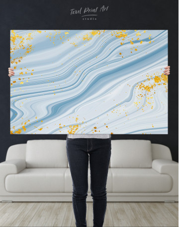 Blue Marble Canvas Wall Art - image 9